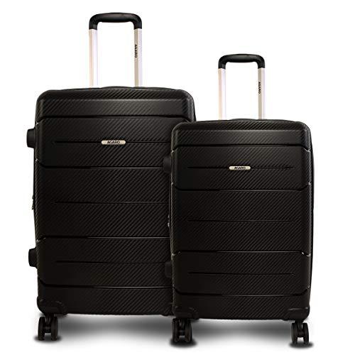 AGARO Venus Set of 2 56cm+65cm Polypropylene Black Hardsided Suitcase/Luggage