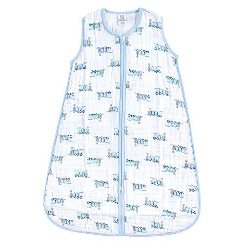 Luvable Friends Basics Safe Sleep Wearable Muslin Sleeping Bag, Train, 0-6 Months from Luvable Friends