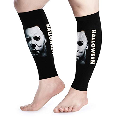Calf Compression Sleeves Halloween Michael Myers Leg Support Socks for Women Men 1 Pair -