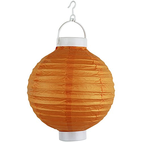 Just-Artifacts-8-Round-Battery-Powered-LED-ChineseJapanese-Decorative-Paper-Lantern-Color-Orange