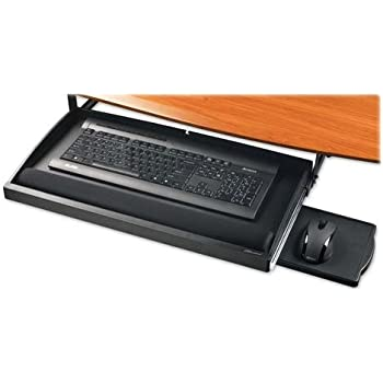 "Lorell Underdesk Keyboard Drawer Gel Rest 22-1//2/""x11-3//4/"" BK 25005"