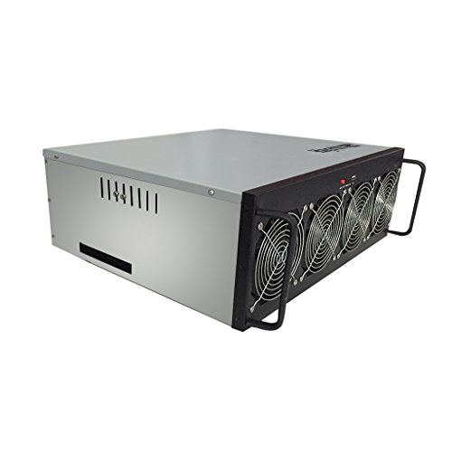 9daysminer Mining Rig Machine Aluminum 6 GPU Miner Case with