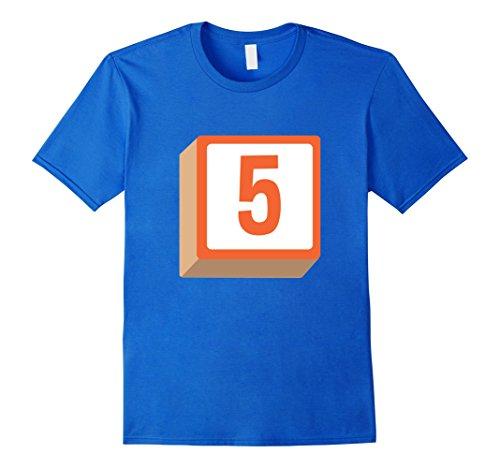 Mens 5 Five Alphabet Block Halloween Group Costume T-Shirt Medium Royal Blue (Group Of 5 Halloween Costumes Ideas)