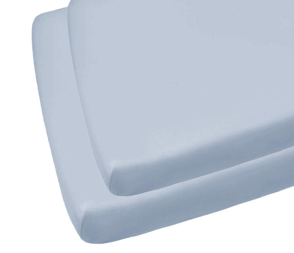 Sky Blue 2 Luxury Cot Bed Fitted Sheets Easy Care 70 x 140CM