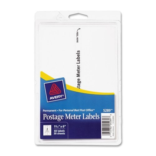 AVE5288 - Permanent Adhesive Postage Meter Labels (Adhesive Postage)