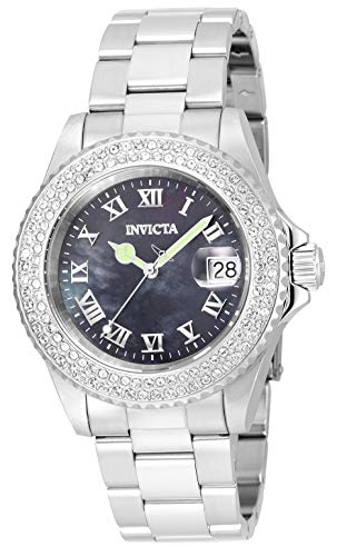 Invicta Women's Angel Quartz Watch with Stainless Steel Strap, Silver, 20 (Model: 21711)
