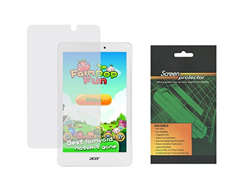 "iShoppingdeals - 2X Clear Screen Protector Guard Shield Film for Acer Iconia Tab 8"" (Model A1-850 Only)"