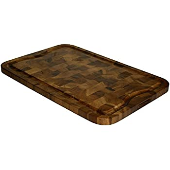 Elegant Mountain Woods 24 X 16 Professional End Grain Acacia Cutting Board W/Juice  Groove