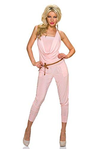 Basic Donna maniche Rosa Senza Salopette Fashion SwxqZBzF