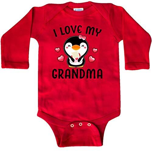 (inktastic - I Love My Grandma with Cute Long Sleeve Creeper 6 Months Red 342c7)