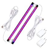 Sondiko LED Grow Light Bar, Upgraded Timing Function 10W Grow Light with 48 LEDs Dimmable 4 Levels Lamp Bulbs for Indoor Plants, 2-Pack