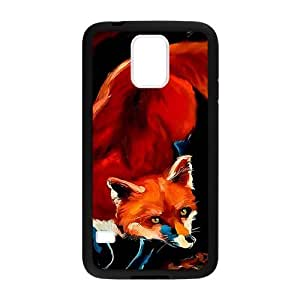 Hoomin Art Printed Fox Samsung Galaxy S5 Cell Phone Cases Cover Popular Gifts(Laster Technology)