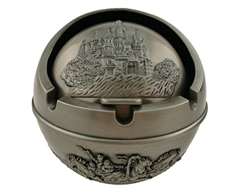 Ancient Egyptian Style Castle Pattern Spherical Pattern Ashtray Perfect Father's Day Dad Gift Home Decoration (Castle Horse)