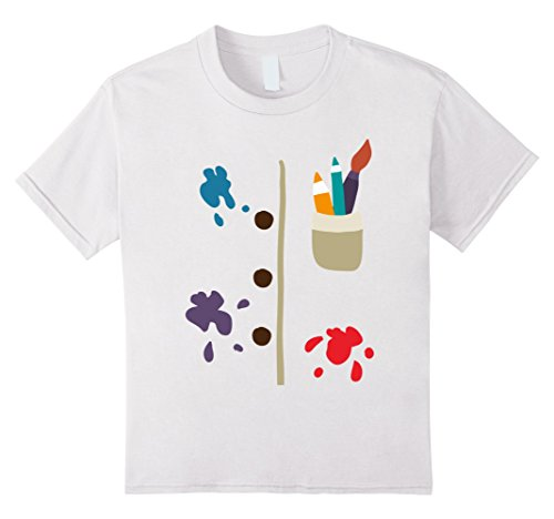 Kids T-Shirt Halloween Costume gift drawing table painter 6 White - Painter Costume For Kids