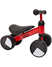 LBLA Baby Balance Bike, Ride On Scooter, Mini Bike, Bicycle For Children Riding Toy Balance Baby Walker Push Car Walking Buddy Bike For Baby Kid Toddler Indoor Outdoor Activities 6-48 Months (Red)