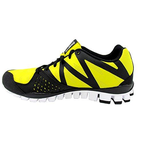 Reebok realflex transition 3.0 chaussures de course noir/jaune/blanc