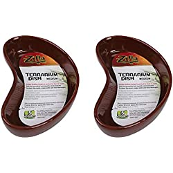 Zilla Reptile Terrarium Dishes, 2 Pack, Medium