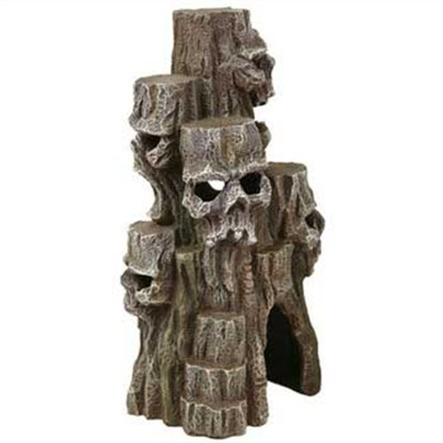 Exotic Environments Skull Mountain Aquarium Ornament, Tall, 5-1/2-Inch by 5-Inch by 10-Inch by Blue Ribbon