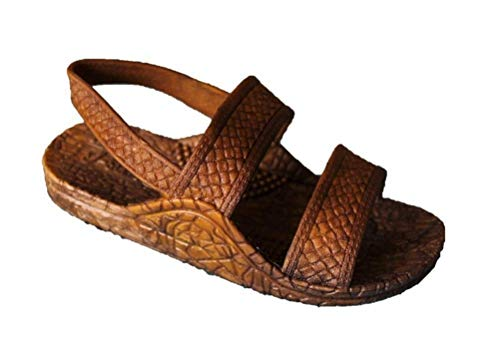 Toddler J-Slips Hawaiian Jesus Sandals with Back Strap (Slingback) - Lightweight Slip Sandals