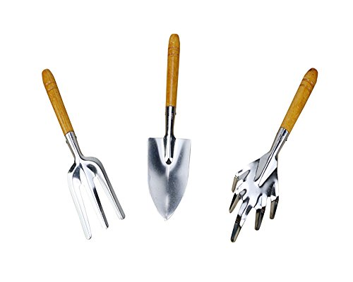 MEGOOD-3pcsset-Stainless-steel-with-Wood-Handle-Garden-Tools-Shovel-Rake-Spade