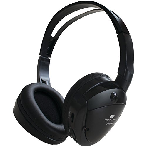 Planet Audio PHP32 Dual Channel Infrared Wireless Foldable Headphones For Car Monitors From Planet Audio ()
