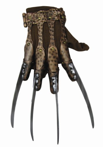 Nightmare On Elm Street Deluxe Freddy Krueger Glove, Gray, One -