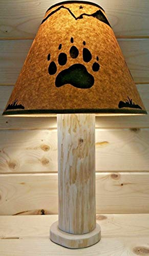 Northwood Rustic Floor Lamp - Bear Claw Rustic Log Lamp Authentic Western Red Cedar with FREE 12