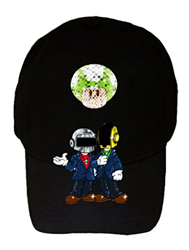 Video Game Parody of Punk Singers Mushroom - 100% Cotton Adjustable Cap Hat