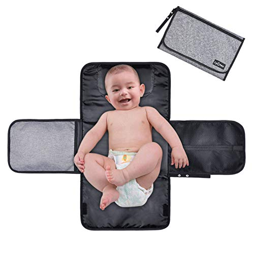Nappy Changing Mat,Lychee Water-Resistant Foldable Baby Changing Kit Soft Pillow Travel Diaper Pad Keep Baby Clean for Home Travel Outside