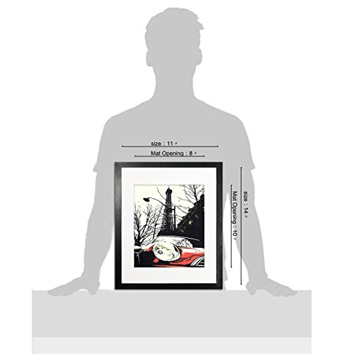 Ohbingo 11x14 Picture Photo Frames with Mat for 8x10 Wall and Tabletop Display Black Set of 3 Pack