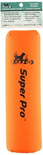 D.T. Systems Super-Pro Dog Training Launcher Dummy, Blaze orange by D.T. Systems