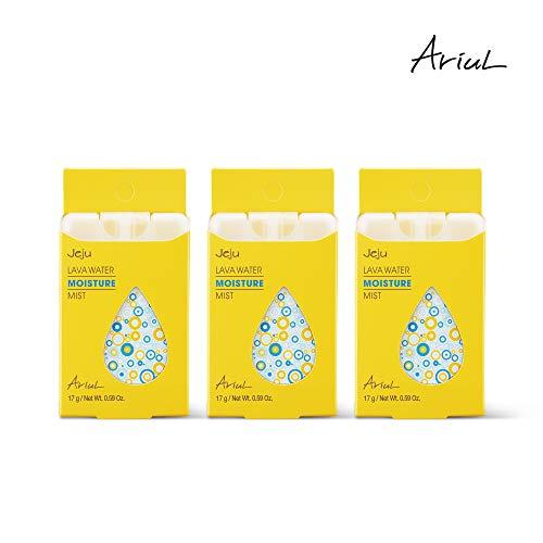 Unscented Pocket Travel Size Face Mist by Ariul, Jeju Lava Water Mist Moisture (3pc X 0.59 oz), Facial Toner, Makeup Setting Spray, 100% EWG Green Graded Nutrients