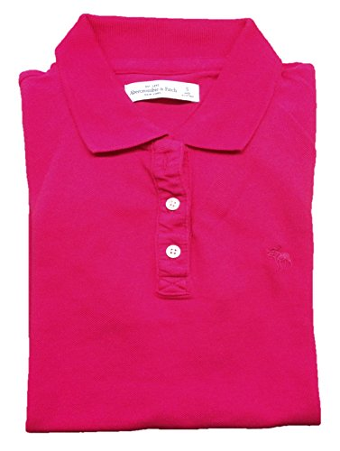 abercrombie-and-fitch-womens-polo-shirt-medium-dark-pink