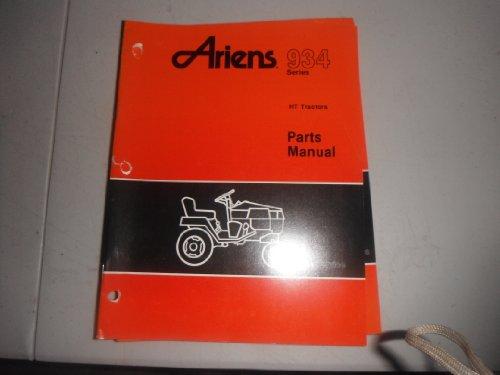 Ariens 934 Series HT Hydro Garden Tractor Parts Manual