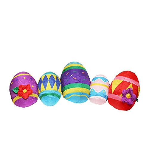 (Northlight Inflatable Lighted Easter Eggs Yard Art Decoration, 10',)