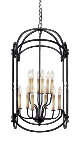World Imports Lighting 61407-42 Hastings 12-Light Foyer Lantern, Rust