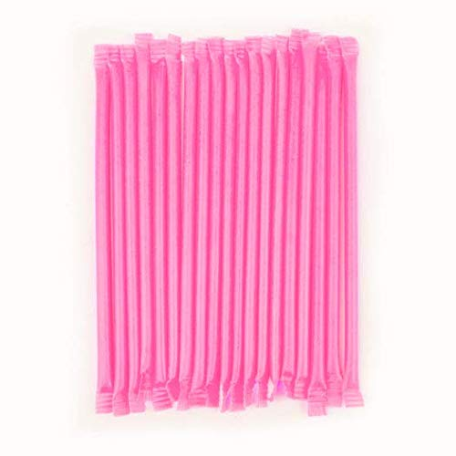 Light Pink Strawberry Candy Straws (240 Count)