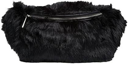 Womens Girls Waist Bags KGM Accessories Super Fluffy Soft Fuax Fur Bum Bag Fanny Pack Waist Bag Gifts