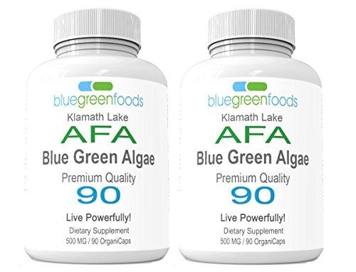 Cheap AFA Blue Green Algae Organic Stem Cell Superfood Stem Cell Enhancer AFA Bluegreen Algae 90 Pullulan caps / 500mg – 2-Pack