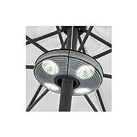 Lampe extérieure 4 Spots 16 LEDS pour parasol + tonnelle + auvent