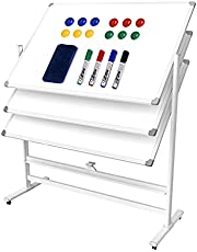 White Board, Dry Erase Board Wall Mounted for Teaching or Training, Silver Aluminium Frame Whiteboard with 4 Magnets, 3 Marks and 1 Megnetic Eraser