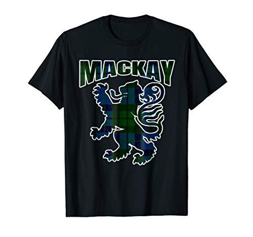 MacKay Clan Kilt Tartan T-Shirt Lion Namesake Scottish gift