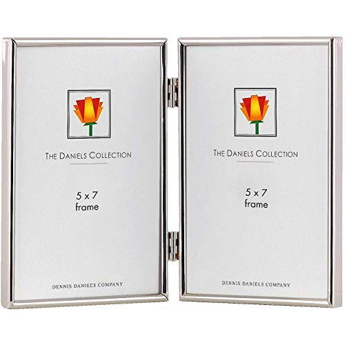 Classic TRIMLINE silverplate hinged duo by Dennis Daniels® - 5x7 ()