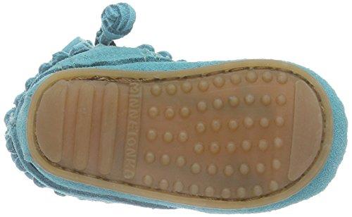 Minnetonka Baby Mädchen Doublefringebootie Lauflernschuhe Türkis (Turquoise)