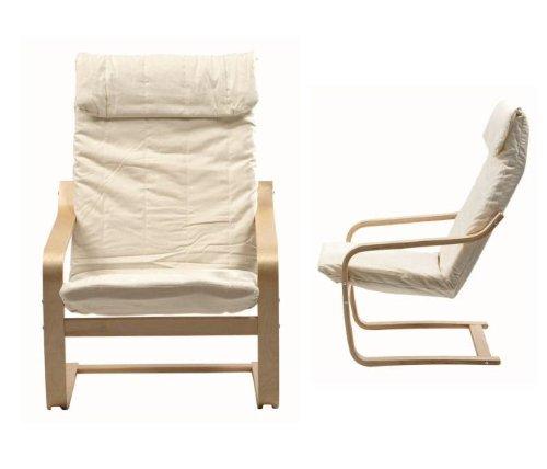 Sillon relax tapizado loneta beige y madera, sillon lactancia 67x79x100