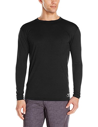 Billabong Men's Submersible Loose Fit Long Sleeve Rashguard, Black, X-Large