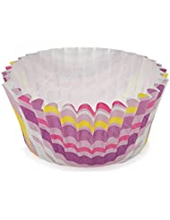 Welcome Home Brands Ruffled Cupcake Cups Stripe Purple 2 D X 1 2 H Case 7200