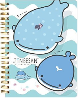 San-X Jinbesan missing whale B6 size notebook, blue