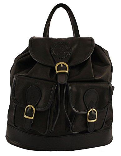 Noir en cuir Sac BAG dos OH femme à MY 8Tnv7