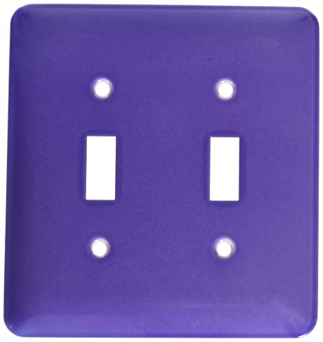 3dRose lsp_4125_2 Purple Double Toggle Switch